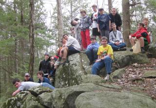 Sequassen Winter Campout - Hiking - March 2012